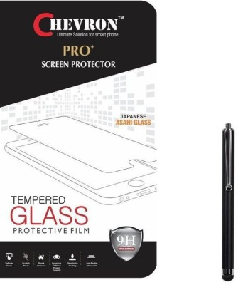 Chevron 0.3mm Pro Tempered Glass Screen Protector For Alcatel OneTouch Flash 2 With 3.5mm Pro Red Stereo Earphones Accessory Combo(Transparent)