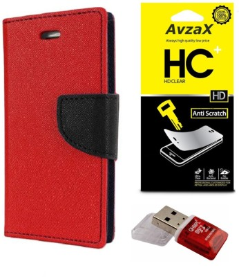 Avzax Cover Accessory Combo for HTC One (E8)(Red)