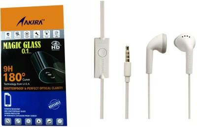 Akira Headphone Accessory Combo for Samsung Galaxy J1 ACE(WHITE)