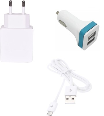 Go4Shopping Wall Charger Accessory Combo for Samsung Galaxy Core 2 White