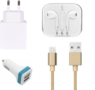 Mudit Retail Ventures Wall Charger Accessory Combo for Apple iPhone 5 White