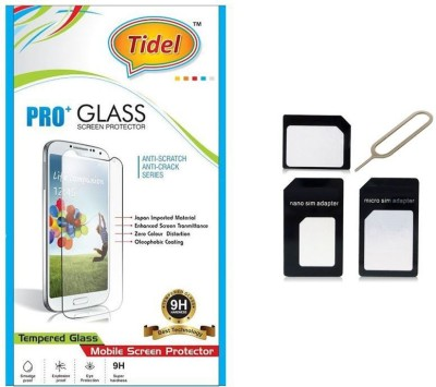 Tidel 2.5D Curved Tempered Glass Screen Guard Protector For Micromax Canvas Juice A77 With Micro/Nano Sim Adapter Accessory Combo(Transparent)