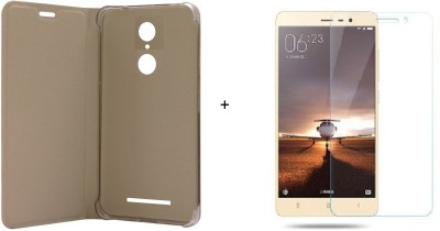 Highderabad Tech Cover Accessory Combo for Xiaomi Redmi Note 3(Gold, Gold)