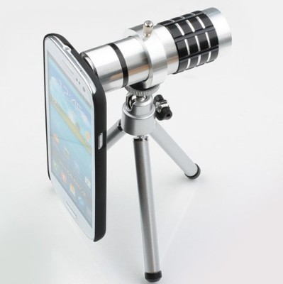 Smiledrive 12x Optical Zoom Lens With Mobile Tripod S5 Mobile Phone Lens