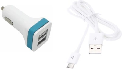 Mudit Retail Ventures Wall Charger Accessory Combo for Huawei Honor Holly 2 Plus White