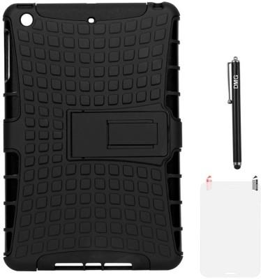 DMG Hybrid Kickstand Case for Apple iPad Mini 2 Retina/iPad Mini with Matte Screen Guard and Stylus Accessory Combo(Black)