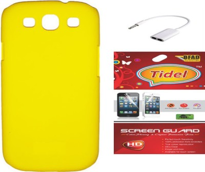 Tidel Back Cover with Screen Guard & Audio Spliter for Samsung Galaxy Grand Duos i9082 Accessory Combo(Yellow)