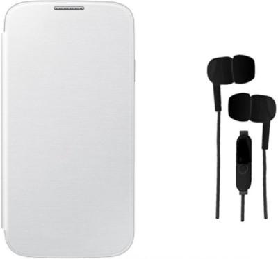 Tidel Motorola Moto G2 Flip Cover With 3.5mm Stereo Earphone Accessory Combo White