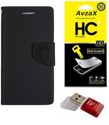 Avzax Cover Accessory Combo for HTC One (E8)(Black)