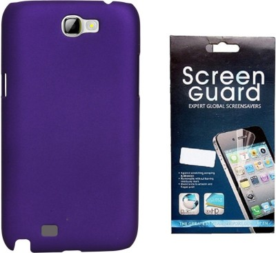 RDcase RDcase Back Cover + Screen Guard for Samsung Galaxy Note 2 (N7100) - Purple Accessory Combo(Purple)