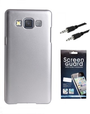 Coverage Coverage Back Cover + Screen Protector + 3.5 MM Auxiliary Cable For Samsung Galaxy S3 Neo GT I9300I - Purple Accessory Combo(Purple)