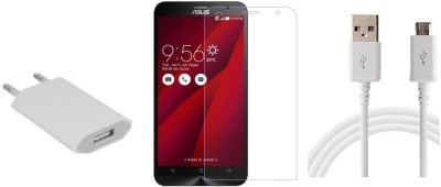 Cell Planet Screen Protector Accessory Combo for Asus Zenfone Laser 2(White)