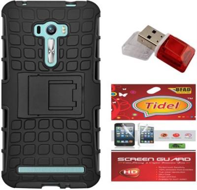Tidel Cover Accessory Combo for Zenfone 2 Laser 5.5(Black)