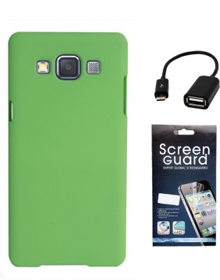 Coverage Coverage Back Cover + Screen Protector + OTG Cable For Samsung Galaxy S3 Neo GT I9300I - Green Accessory Combo(Green)