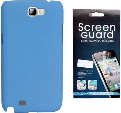 RDcase RDcase Back Cover + Screen Guard for Samsung Galaxy Note 2 (N7100) - Sky Blue Accessory Combo(Blue)