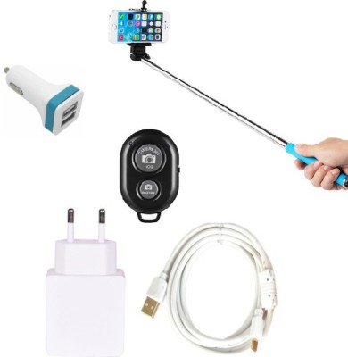 Cell Planet Wall Charger Accessory Combo for Samsung Galaxy Note 1 White, Black