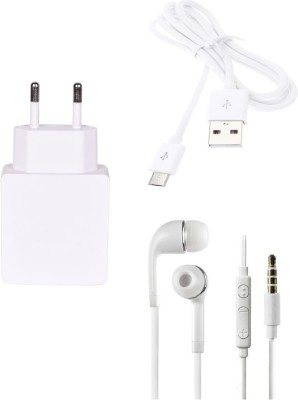 Go4Shopping Wall Charger Accessory Combo for Xiaomi Redmi Note 4G White Go4Shopping Mobiles Accessories Combos