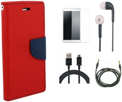 Poonam Cover Accessory Combo for Huawei Honor 4C Red, White