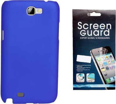 RDcase RDcase Back Cover + Screen Guard for Samsung Galaxy Note 2 (N7100) - Royal Blue Accessory Combo(Blue)