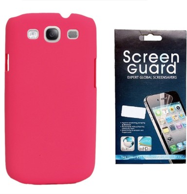 RDcase RDcase Back Cover + Screen Guard for Samsung Galaxy S3 I9300::S III::Samsung Galaxy S3 Neo - Baby Pink Accessory Combo(Pink)