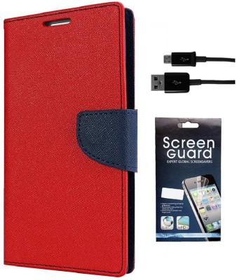 Coverage Cover Accessory Combo for Mercury CoolPad Dazen Note 3, CoolPad Note 3(Red)
