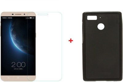 Mobizworld Cover Accessory Combo for LeTv LeEco le 1s(Black, Transparent)