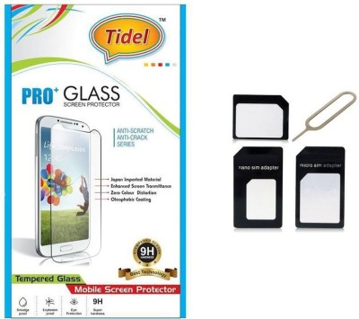 Tidel Tidel 2.5D Curved Tempered Glass Screen Guard Protector For Micromax Canvas Pep Q371 With HandsFree EarPhone Accessory Combo(Transparent)