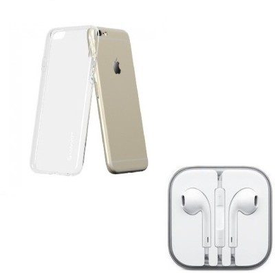 Cell Planet Head Phone, Transparent Back Cover, Combo Set for iPhone 6+ Accessory Combo(Transparent)