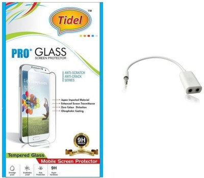 Tidel Tidel 2.5D Curved Tempered Glass Screen Guard Protector For Micromax Canvas Pep Q371 With Audio Spliter Accessory Combo(Transparent)