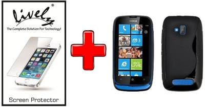 Lively Screen Protector Accessory Combo for Nokia Lumia 610(Black)