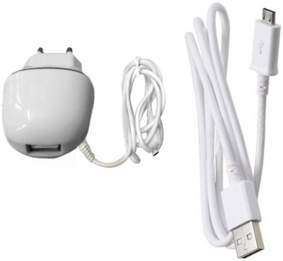 Dhhan Wall Charger Accessory Combo for Micromax A114R Canvas Beat(White)