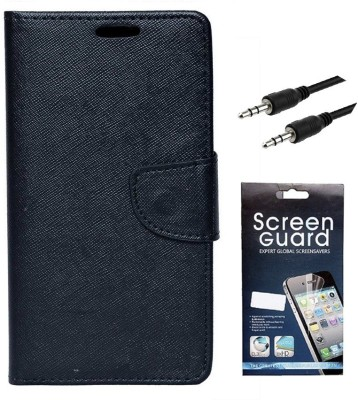 Coverage Cover Accessory Combo for Mercury CoolPad Dazen Note 3, CoolPad Note 3(Black)