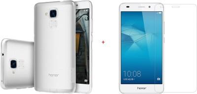 Shobicomz Cover Accessory Combo for Honor 5C Transparent, Transparent Shobicomz Mobiles Accessories Combos