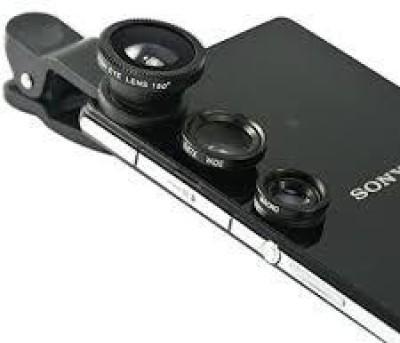 KG Collection 1 Fisheye Lens, 1 Macro Lens, 1 Wide-angle Lens, 1 Plastic Clip, 2 Lens Cap, 1 Carry Pouch Mobile Phone Lens