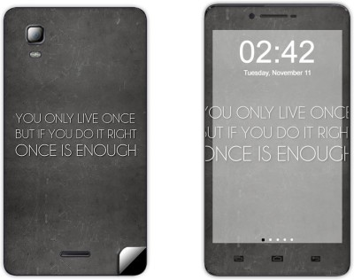 Skintice SKIN39915 Micromax Doodle 3 A102 Mobile Skin Grey  available at Flipkart for Rs.299
