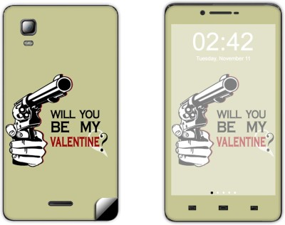 Skintice Skin51596 Micromax Canvas Doodle 3 A102 Mobile Skin Grey available at Flipkart for Rs.299