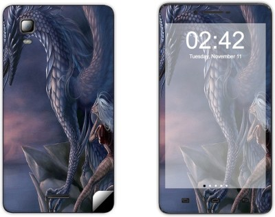 Skintice SKIN39802 Micromax Doodle 3 A102 Mobile Skin Grey  available at Flipkart for Rs.299