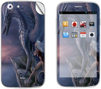 Skintice SKIN39402 Micromax Canvas 4 A210 Mobile Skin Grey  available at Flipkart for Rs.299