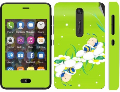 Snooky 164832 Nokia Asha 501 Mobile Skin(Green)