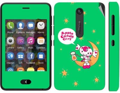 Snooky 164829 Nokia Asha 501 Mobile Skin(Green)