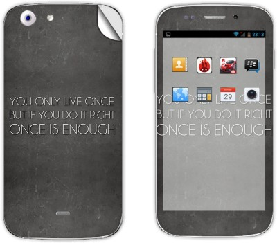 Skintice SKIN39515 Micromax Canvas 4 A210 Mobile Skin Grey  available at Flipkart for Rs.299