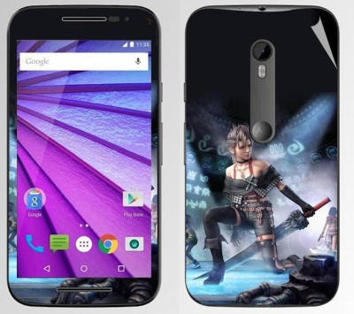 Snooky 169314 Motorola Moto G 3rd Gen Mobile Skin Blue