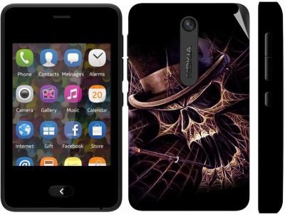 Snooky 164453 Nokia Asha 501 Mobile Skin(Black)