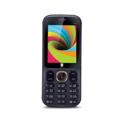 iBall 2.4 Neon Dual Sim - Black and Lemon (Yellow)