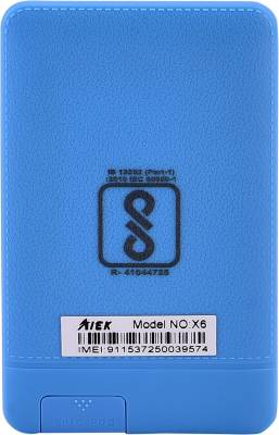 AIEK X6 Credit Card Size