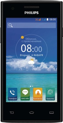 Philips S 309 (Black, 4 GB)(512 MB RAM)