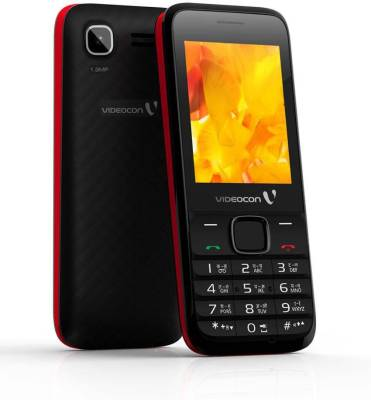Videocon V1555 (Black & Red)