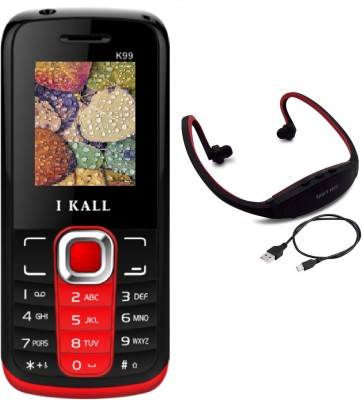 I Kall K99 with MP3/FM Player Neckband(Red