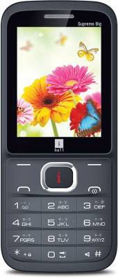 iBall Supremo Big 2.4D Dual Sim (Black, Brown)