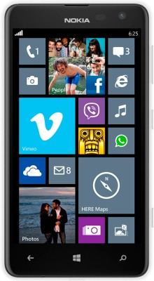Nokia Lumia 625 (White, 8 GB)(512 MB RAM)